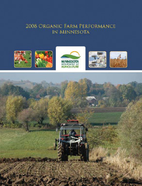 Photo of the cover of the 2008 Organic Farm Performance in Minnesota report