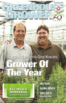 Photo of Greenhouse Growers of the Year in 2008.