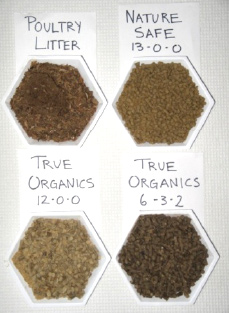 Photo of Fertilizers used as treatments in field trial and incubation.